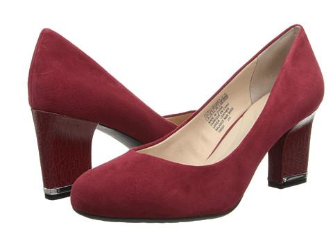 Rockport - Seven to 7 Mid Plain Pump (Rhubarb Suede/Croc Heel) Women's 1-2 inch heel Shoes