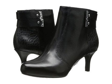 Rockport - Seven To 7 65mm 2 Strap Bootie (Black Smooth) Women's Boots