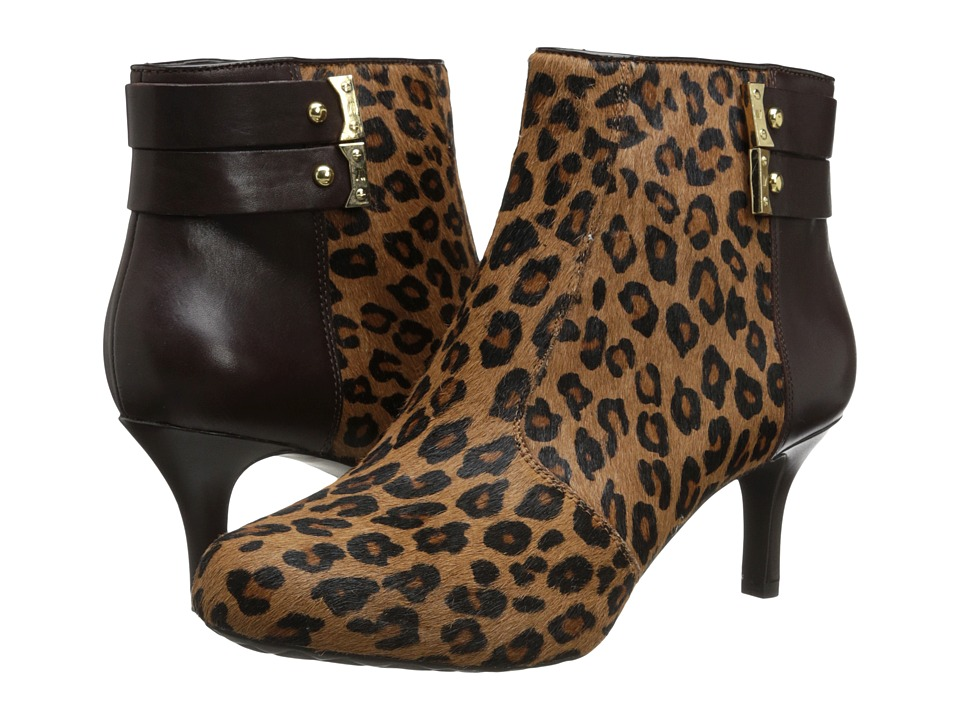 Rockport - Seven To 7 65mm 2 Strap Bootie (Brown Leopard) Women