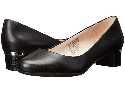 Rockport - Seven To 7 35mm Plain Pump (Black Smooth Leather) Women