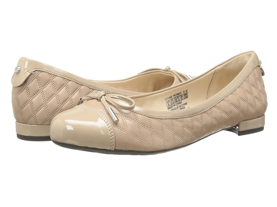 Rockport Atarah Cap Toe Ballet (Warm Taupe) Women