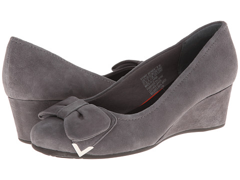 Rockport - Total Motion Wedge 45mm Bow Pump (Eiffel Tower Suede) Women's Wedge Shoes
