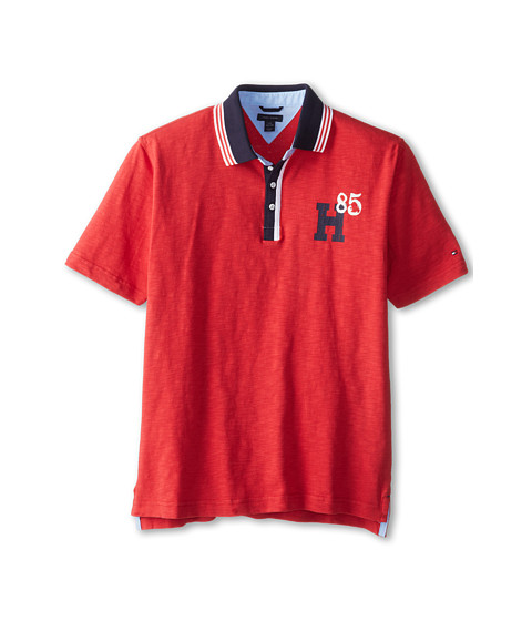 Tommy Hilfiger Kids - Joshua S/S Polo (Big Kids) (Red Geranium) Boy's Short Sleeve Pullover