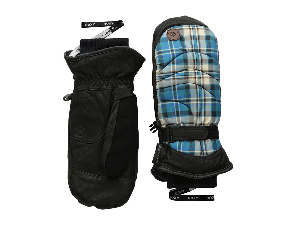 Roxy - Torah Bright Victoria Mitt (TB Plaid/Ocean Depths) Extreme Cold Weather Gloves