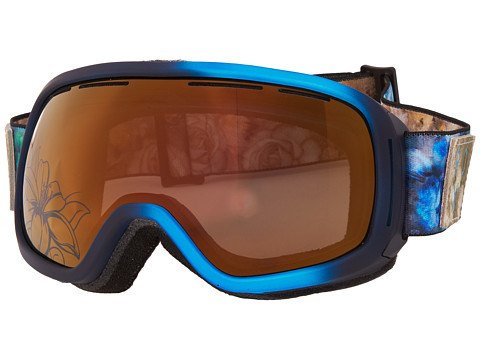 Roxy - Torah Bright Rockferry Goggle (Peacoat/Bronze Chrome Flowers) Snow Goggles