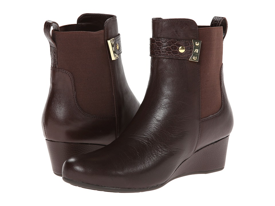 Rockport Total Motion Gore Pull On Boot w/ Croc Strap (Coach Leather) Women