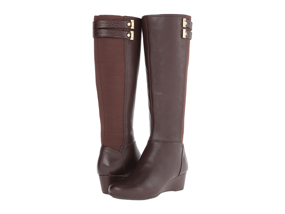 Rockport Total Motion Gore Tall Boot w/ Double Strap (Coach Leather) Women