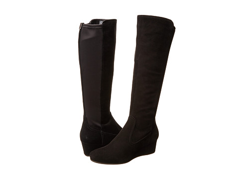 Rockport - Total Motion 45MM Tall Boot Wide Calf (Black Suede/Stretch - ES) Women's Pull-on Boots
