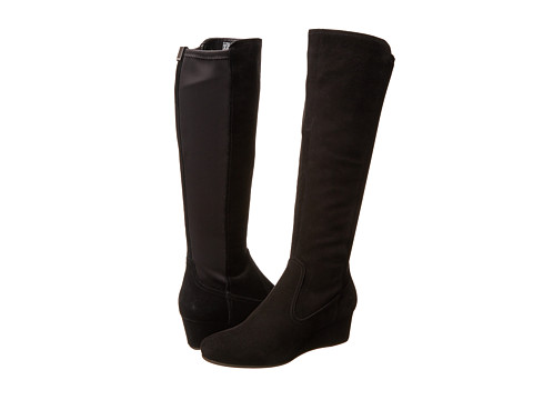Rockport - Total Motion 45MM Tall Boot (Black Suede/Stretch) Women