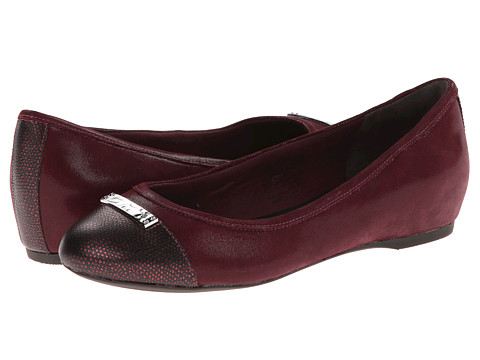 Rockport - Total Motion 20mm Cap Toe Skimmer w/ Medallion (Windsor Wine) Women's Slip on Shoes