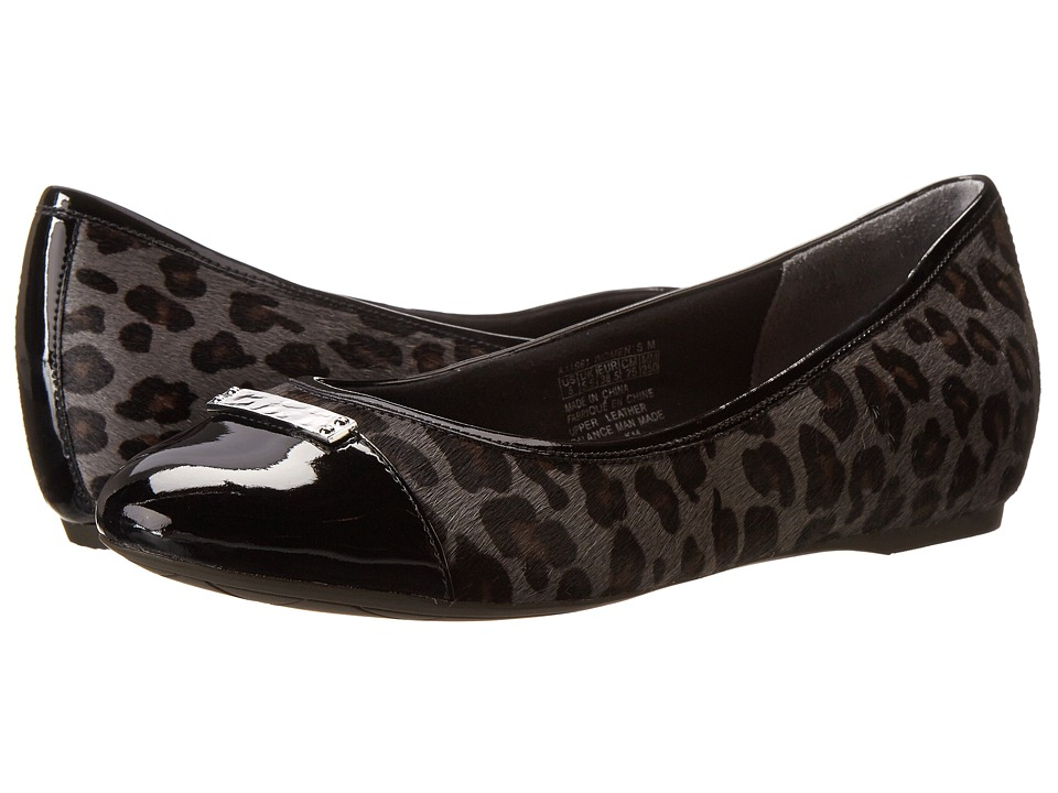 Rockport - Total Motion 20mm Cap Toe Skimmer w/ Medallion (Grey Leopard) Women's Slip on Shoes