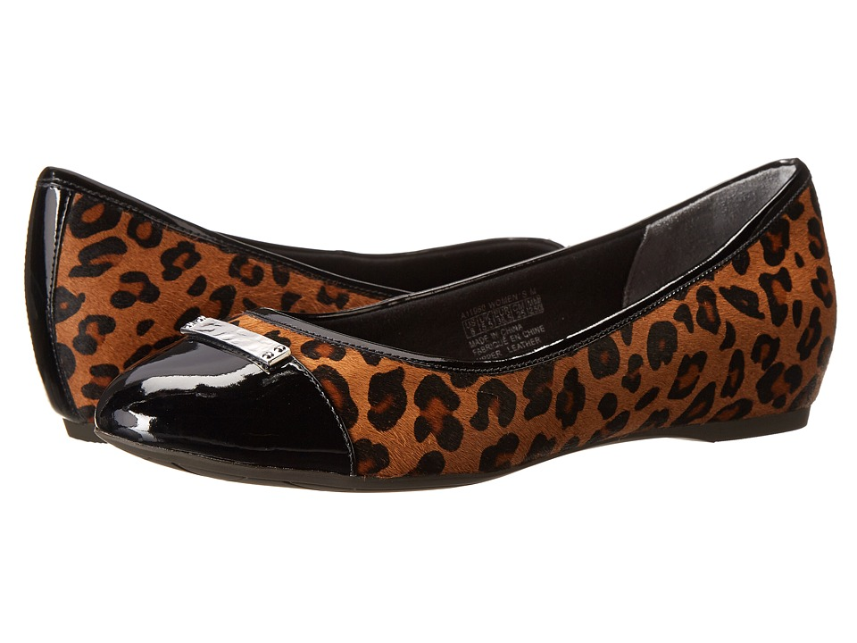 Rockport - Total Motion 20mm Cap Toe Skimmer w/ Medallion (Brown Leopard) Women's Slip on Shoes