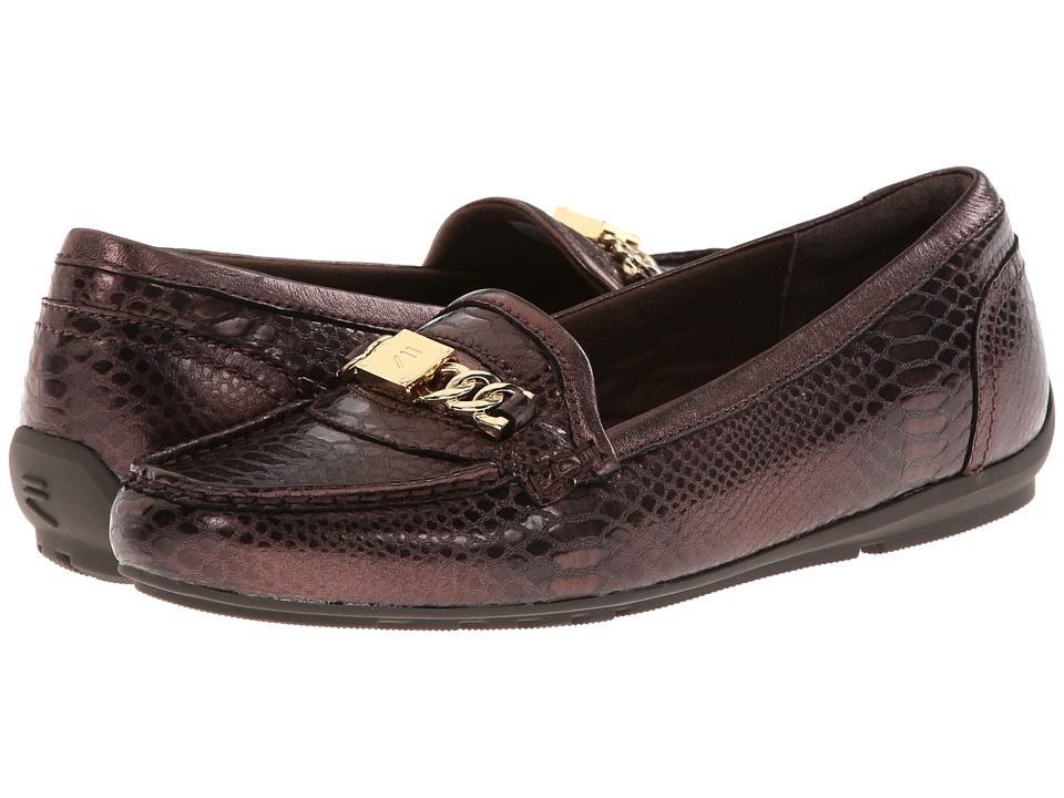 Rockport - Total Motion Driver Chain Keeper (Bronze Python) Women