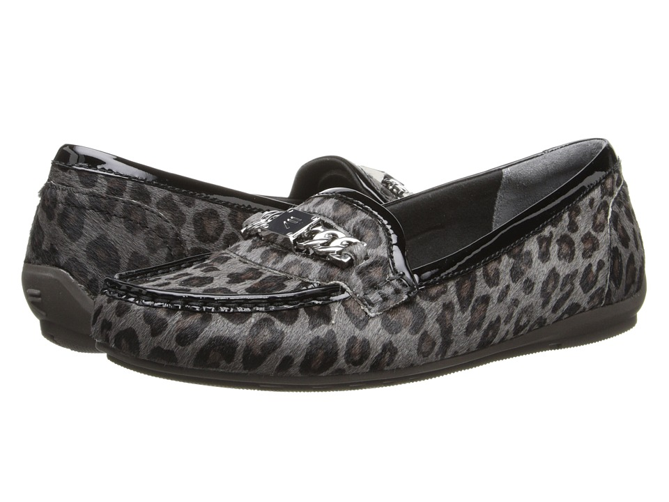 Rockport - Total Motion Driver Chain Keeper (Grey Leopard) Women's Slip on Shoes