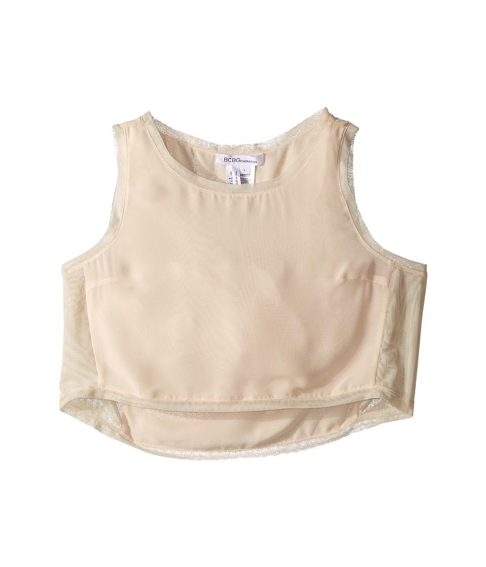 BCBGeneration - Woven Sportwear Top (Nude Blush) Women's Sleeveless