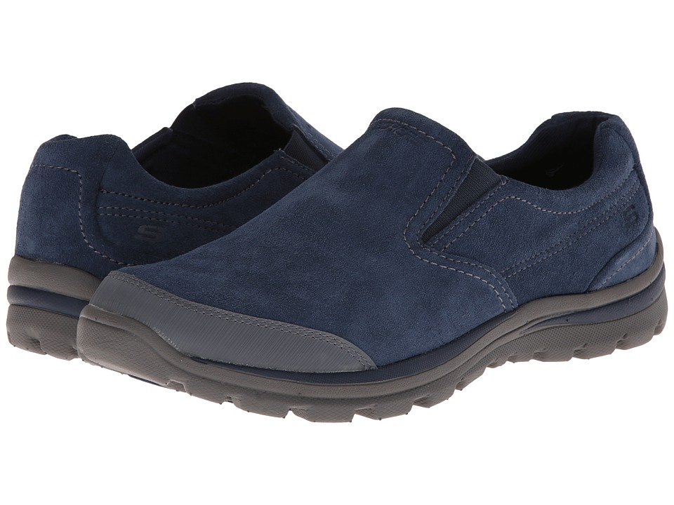 SKECHERS - Superior Refiner (Navy/Grey) Men's Slip on Shoes