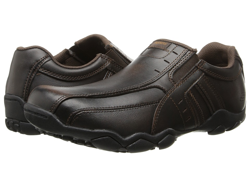 SKECHERS - Diameter (Dark Brown) Men's Slip on Shoes