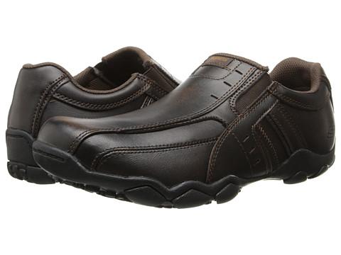 SKECHERS - Diameter (Dark Brown) Men's Slip on Shoes