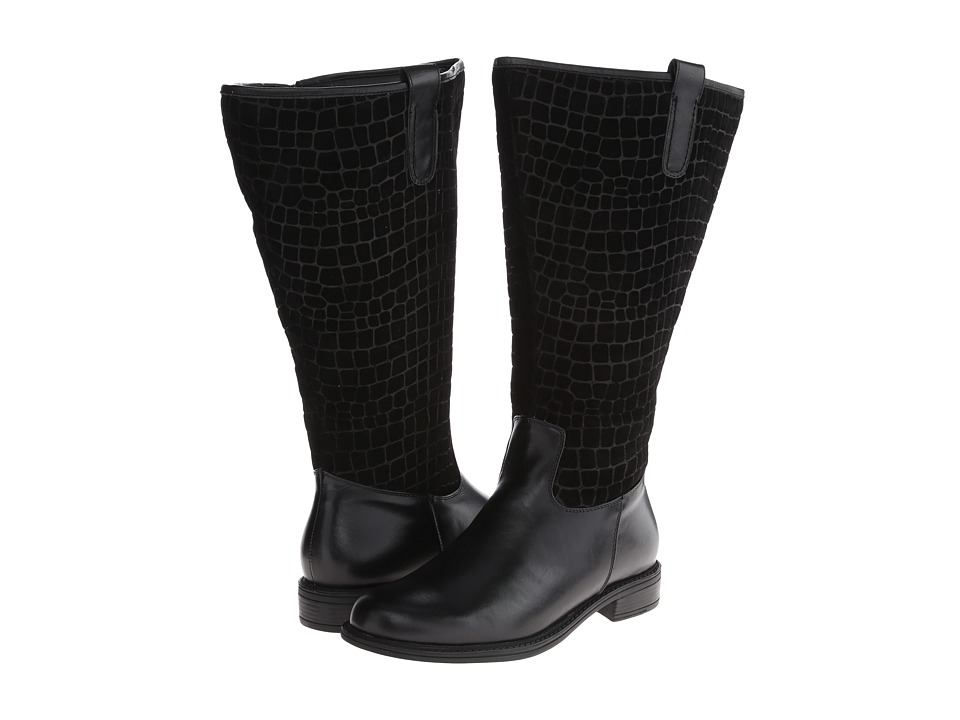 David Tate - Best Wide Shaft (Black Calfskin/Suede) Women's Shoes