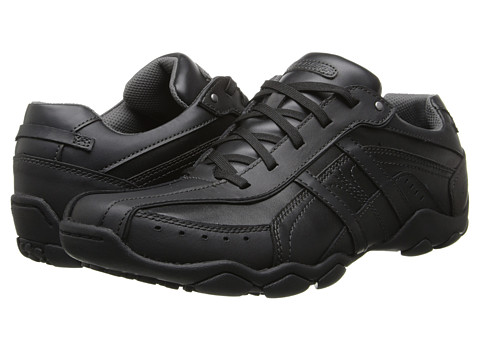 SKECHERS - Diameter 2 (Black) Men's Lace up casual Shoes