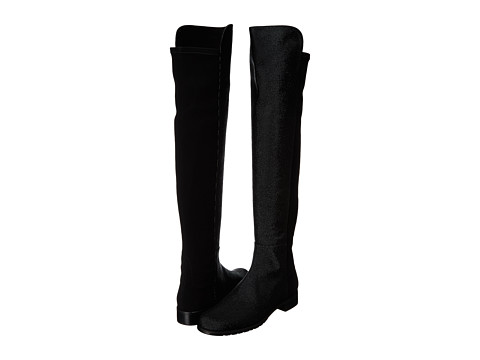 Stuart Weitzman - 5050 (Black Pindot Nappa) Women's Pull-on Boots