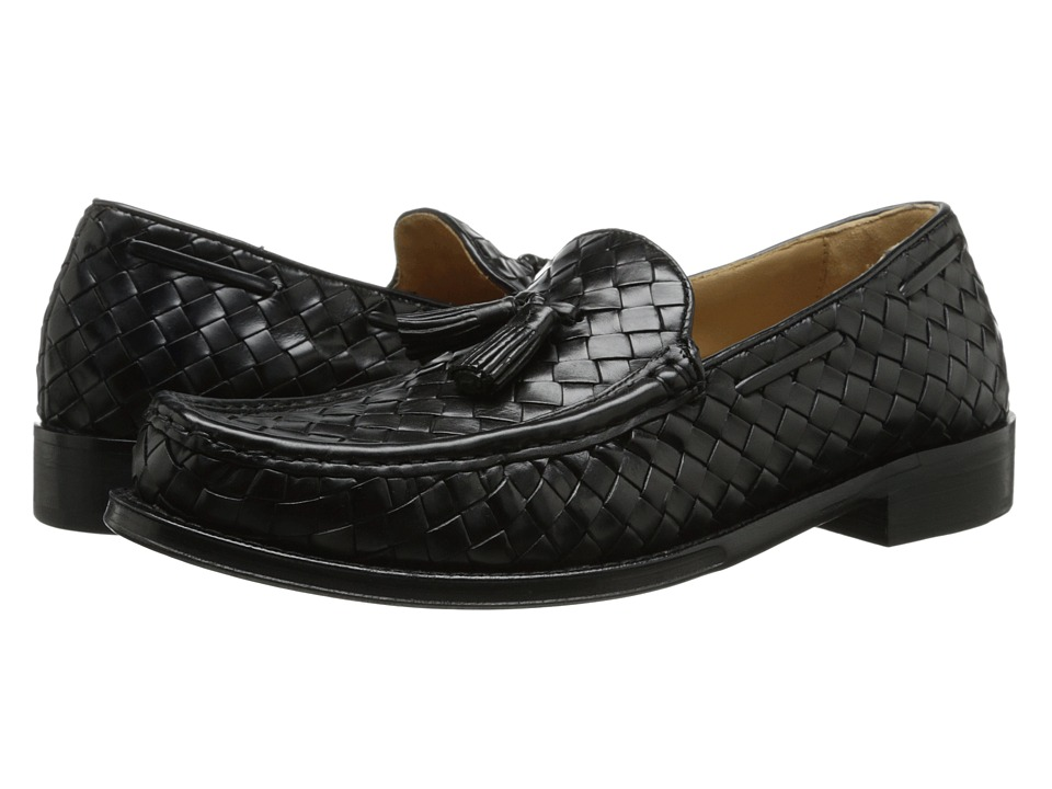 Cole Haan - Brady Woven Tassel Loafer (Black) Men