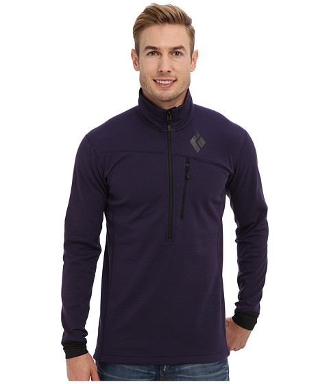 Black Diamond - Coefficient 1/4 Zip (Nightshade) Men's Clothing