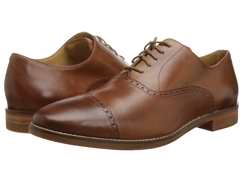 Cole Haan - Cambridge Cap Oxford (British Tan) Men's Lace Up Cap Toe Shoes