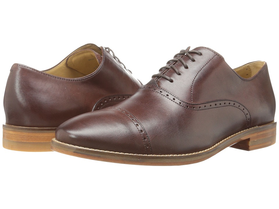 Cole Haan - Cambridge Cap Oxford (Dark Brown) Men's Lace Up Cap Toe Shoes