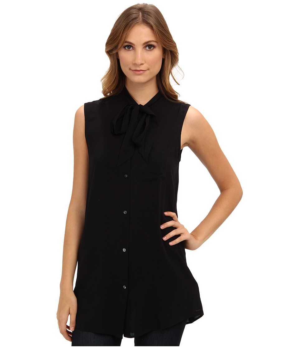 Diesel - C-Aried Sleeveless Shirt (Black) Women's Sleeveless