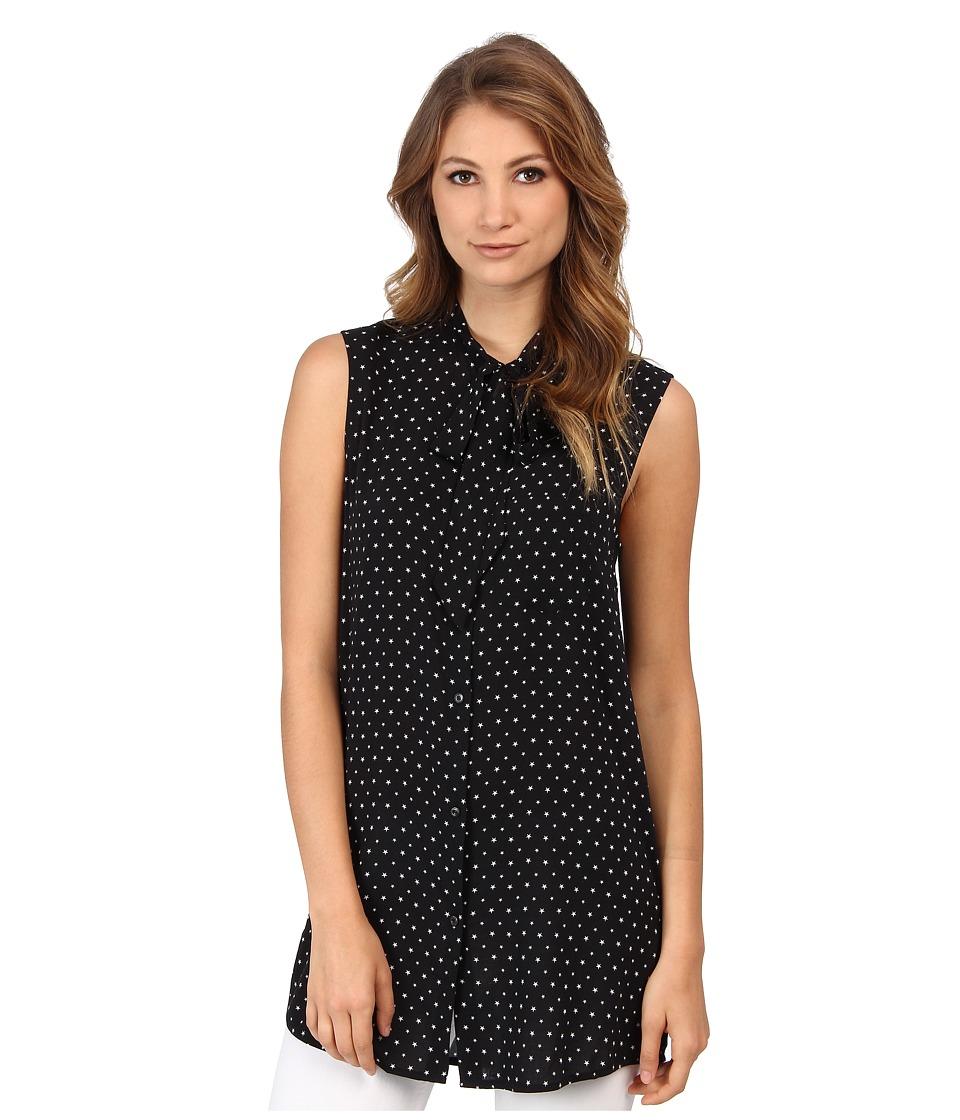 Diesel - C-Aried-A Star Sleeveless Shirt (Black/White) Women's Sleeveless