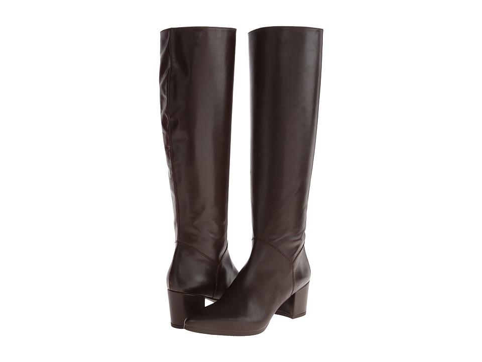 Stuart Weitzman Bootleg Walnut Calf Womens Zip Boots