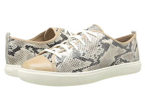Cole Haan - Hendrix Lace Sneaker (Maple Sugar Snake Print) Women's Lace Up Cap Toe Shoes