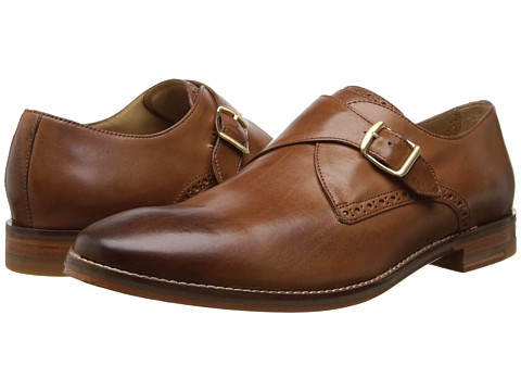 Cole Haan - Cambridge Monk (British Tan) Men's Monkstrap Shoes