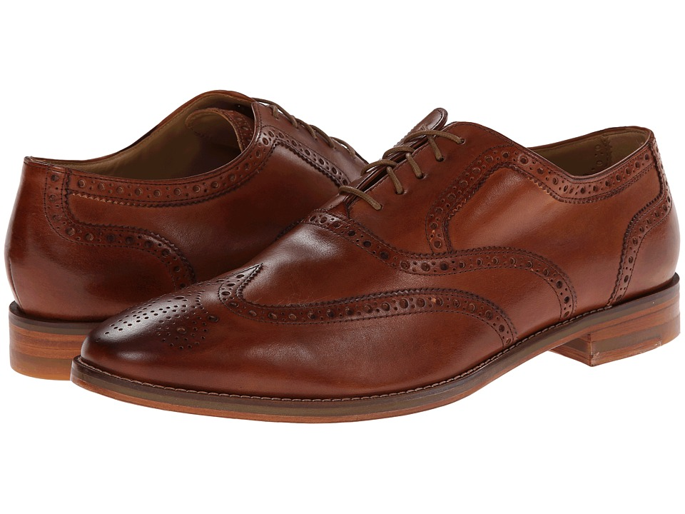Cole Haan - Cambridge Wing Oxford (British Tan) Men's Lace Up Wing Tip Shoes