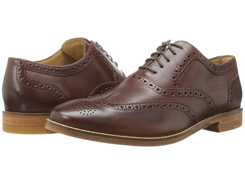 Cole Haan - Cambridge Wing Oxford (Dark Brown) Men's Lace Up Wing Tip Shoes