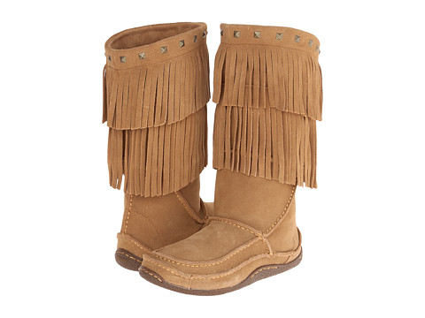 Durango - Santa Fe 13 Fringed Moccasin (Sand) Women's Moccasin Shoes