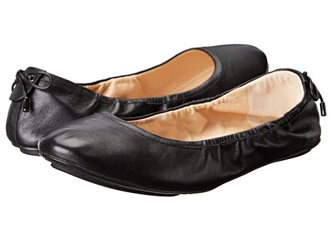 Cole Haan - Avery Bow Back Ballet (Black) Women's Flat Shoes