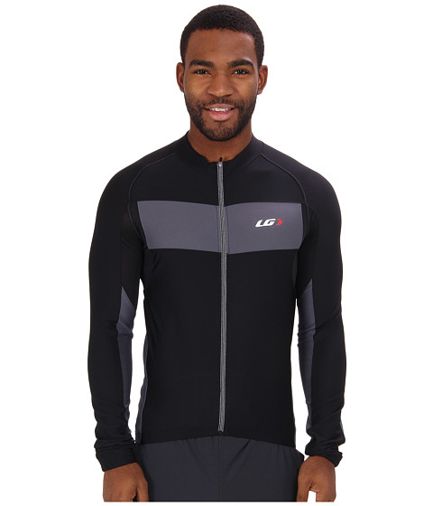 Louis Garneau - Ventila SL Long Sleeve Jersey (Black/Grey) Men's Clothing