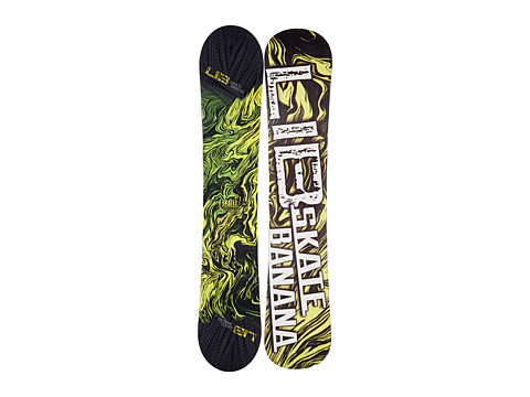 Lib Tech - Sk8 Banana'14 159 Wide (Yellow) Snowboards Sports Equipment