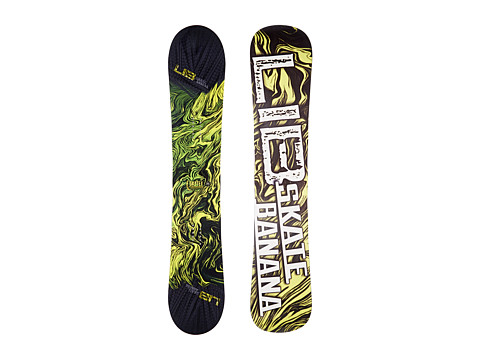 Lib Tech - Sk8 Banana'14 162 Wide (Yellow) Snowboards Sports Equipment