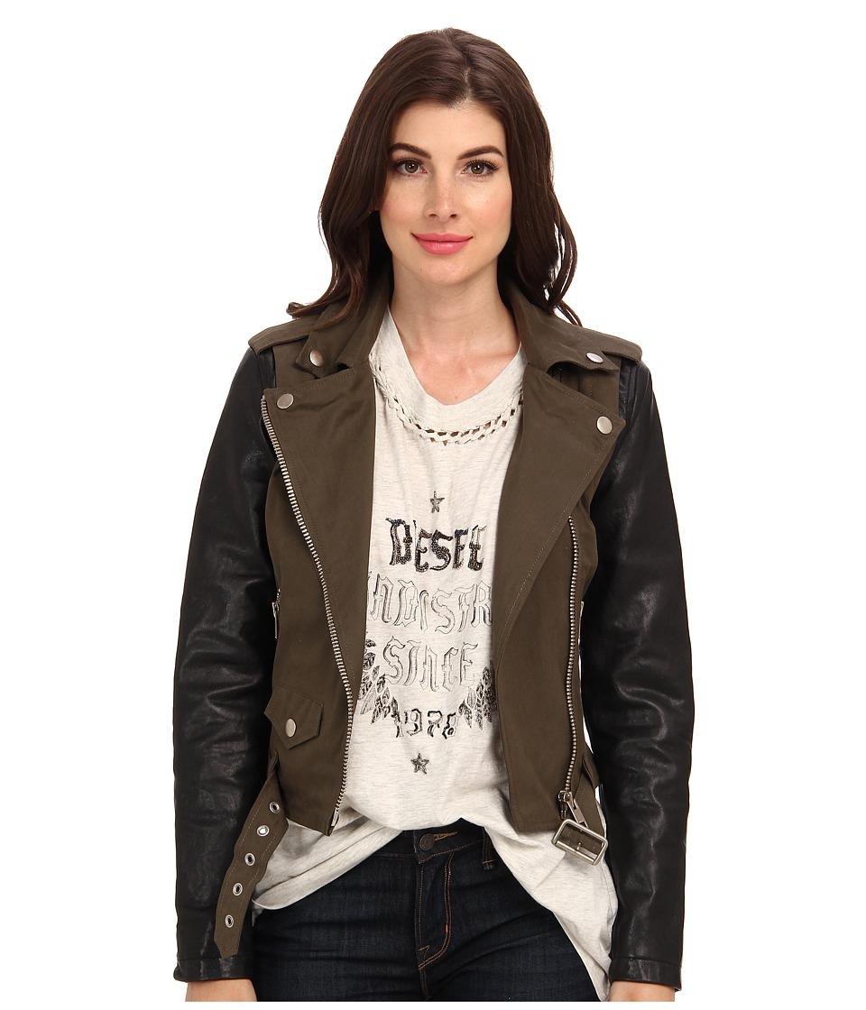 Diesel - L-Lupus-C Jacket (Olive/Green) Women's Coat