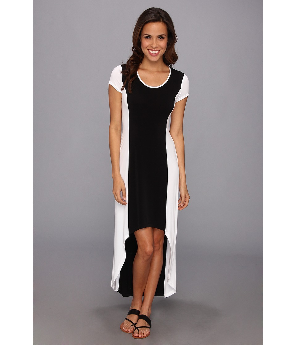 Marc New York by Andrew Marc - Color Block High-Low Maxi Dress MD4A3171 (Black/White) Women
