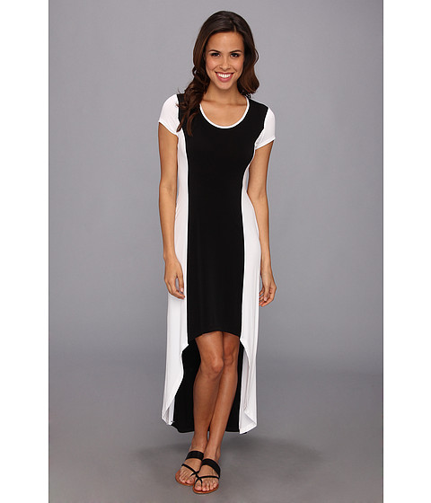 Marc New York by Andrew Marc - Color Block High-Low Maxi Dress MD4A3171 (Black/White) Women's Dress