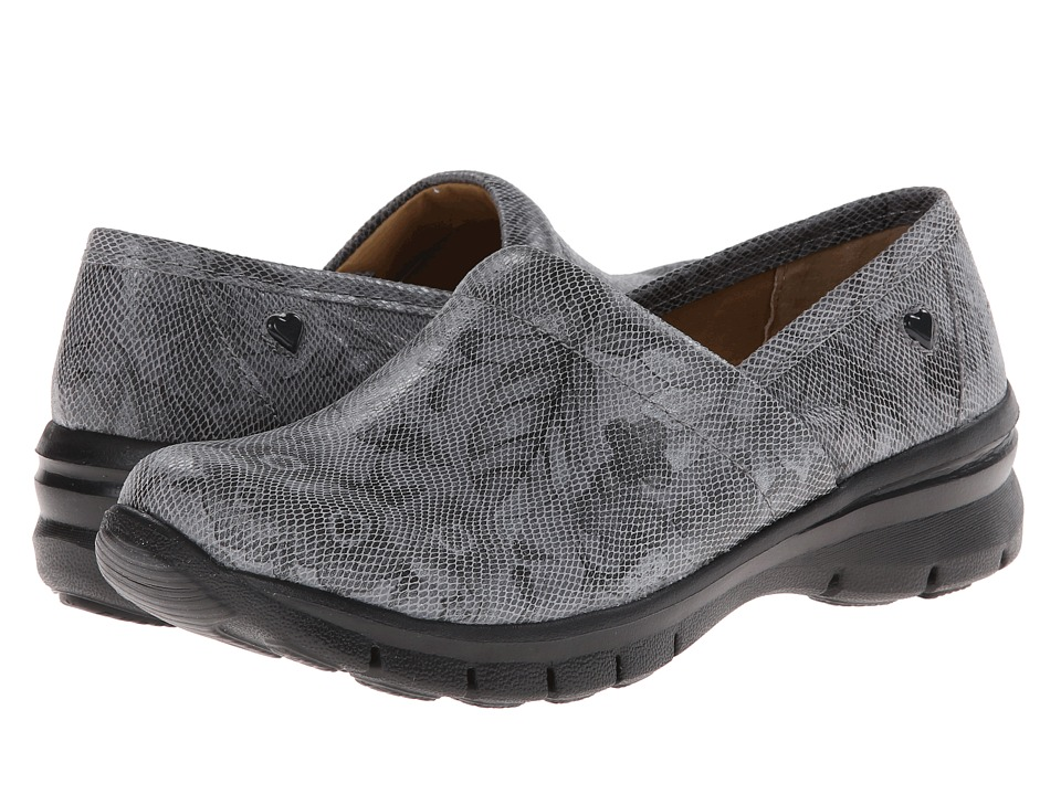 Nurse Mates - Libby (Gray Flower) Women's Clog Shoes