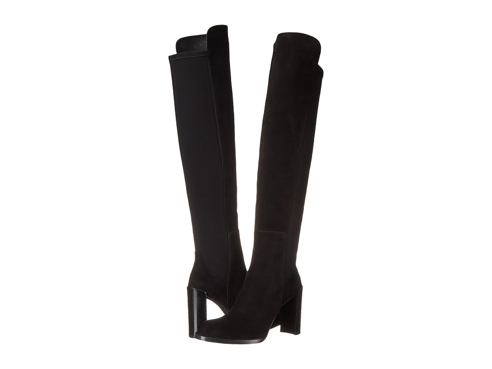 Stuart Weitzman - Hijack (Black Suede) Women's Pull-on Boots