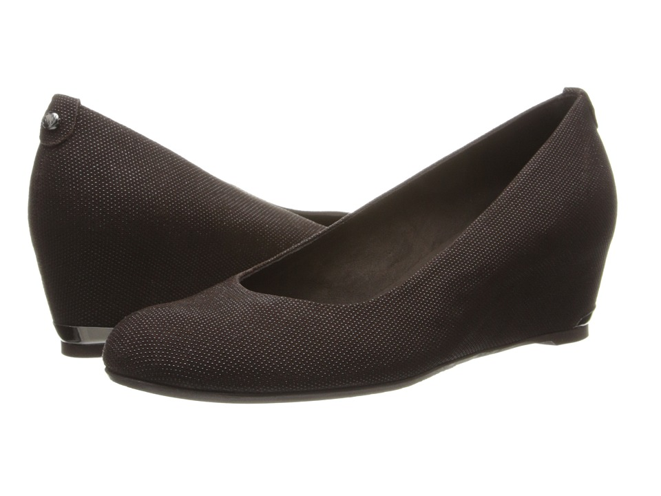 Stuart Weitzman - Logosojourn (Timber Pindot Nappa) Women's Wedge Shoes