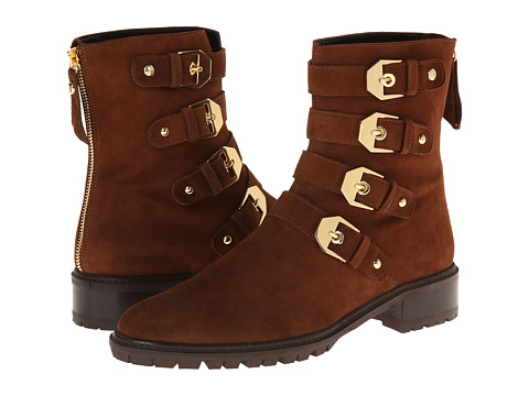 Stuart Weitzman - Jitterbug (Walnut Suede) Women's Zip Boots