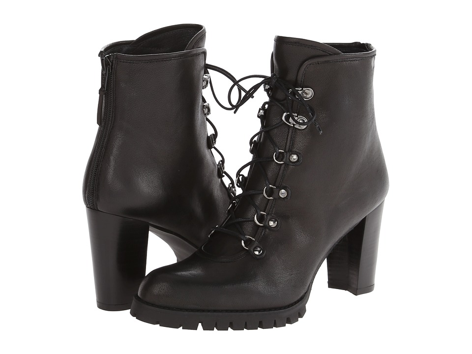 Stuart Weitzman - Mackinac (Black Vecchio Nappa) Women's Dress Lace-up Boots