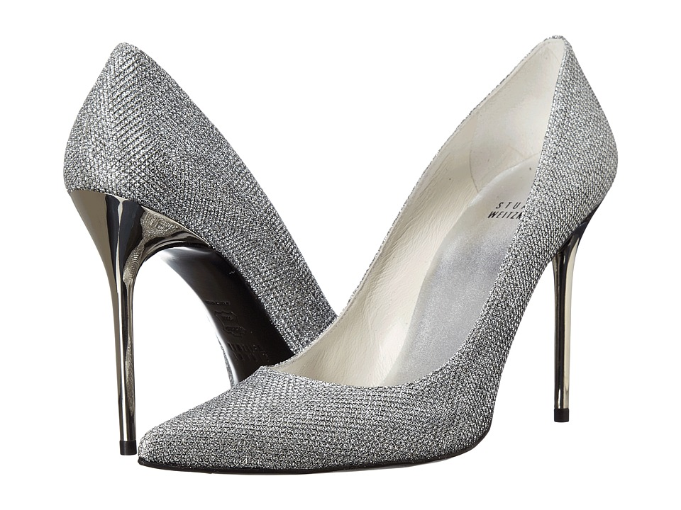 Stuart Weitzman Bridal & Evening Collection - Nouveau (Silver Noir) High Heels